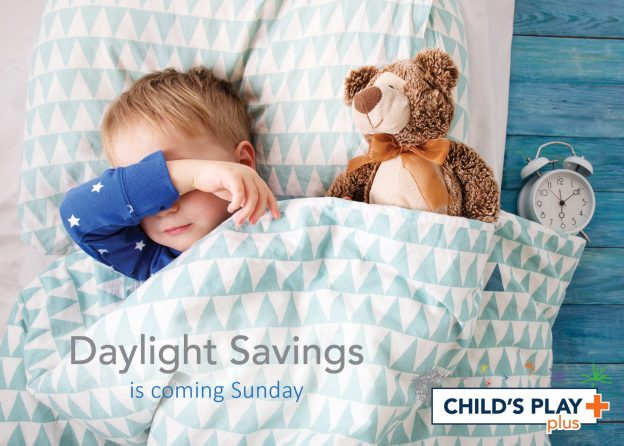 We spring forward one hour this Sunday which can be difficult for any child!
